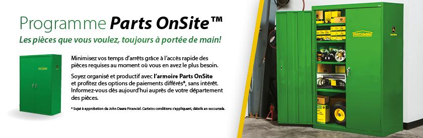 Parts OnSite - Les pièces que vous voulez, toujours à portée de main!
