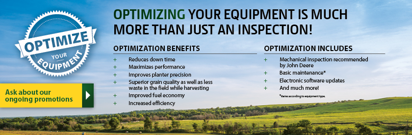 Optimizing your equipment is much more than just an inspection