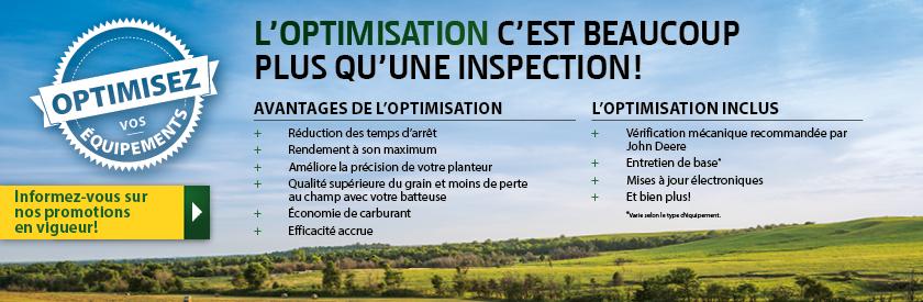 L'Optimisation c'est beaucoup plus qu'une inspection