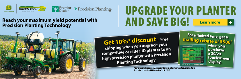 Upgrade your planter and save big!