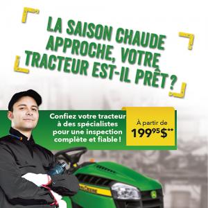 La saison chaude approche, votre tracteur est-il prêt?