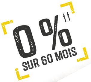 0% sur 60 mois