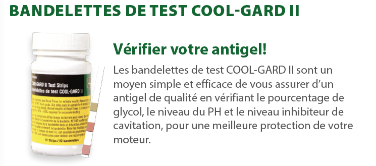 Bandelettes de test Cool-Gard