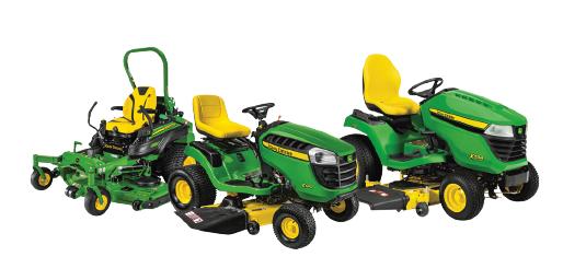 line up tracteur pelouse